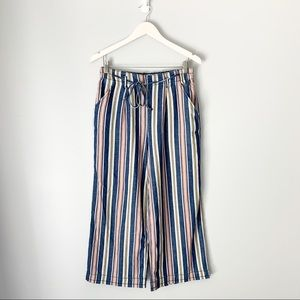 American Eagle Striped Culottes Cropped Pants